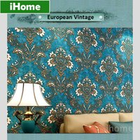 Wholesale Continental Retro Non woven Wallpaper Living Room D European Vintage Wall Covering Paper for Backdrop Textured paper home decor