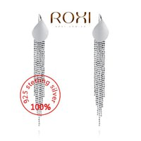 Wholesale 015 ROXI Sterling silver Fashion Jewelry Silver AAA CZ Modelling Beauty Pendent Earrings Party Christmas Gifts3020141458