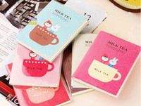 Wholesale 2016 new Planners Organizers Notepad South Korean stationery cute tea time pouches notepad diary