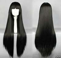 ai wig - HOT Enma ai Long Black Straight Cosplay Party Anime Wig cm