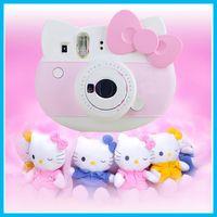 Wholesale 2016 Instax Mini Hello Kitty Instant Camera INS MINI KIT Polaroid refurblish Japan import Free ship