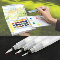 Wholesale 2015 Refillable Pilot Water Brush Ink Pen for Water Color Drawing Painting illustration Sizes Water Brush Pen