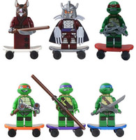 Wholesale Action Figures Minifigures a set suit with arms skateboard Mirage Teenage Mutant Ninja Turtles Package no original box