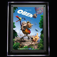 acrylic poster frames with light - Acrylic Crystal Frame for Ceiling Hanging LED Light Box with The Poster Advertising Display