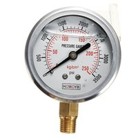 Wholesale 1 inch NPT Male Hydraulic Fuel Oil Liquid Water Filled Pressure Gauge PSI