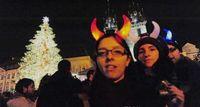 Cheap 200pcs Christmas Ox Horn Party Headwear Flashing LED Hair Clasp Headband Xmas Birthday Gift Devil horns with opp bag