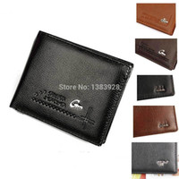 Wholesale 2014 New Fashion Brand Mens Wallet Classic Soild Pattern Designer Short Wallet Purse Men s Wallet Pockets Credit ID Cards Holder ld