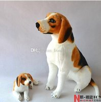 beagle toys - New Husky lies prone dog Stuffed Toys Beagle Simulation dog Plush toys Doll Birthday Lying squatting postureGenuine High quality