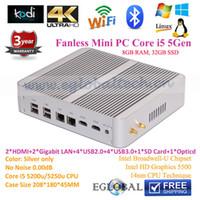 antenna silver - Mini Nettop Fanless Education Mini PC I5 U GB RAM GB SSD Graphics GHz Max GHz M Wifi With Dual Antennas