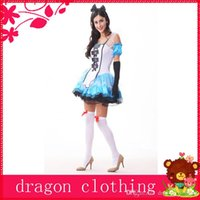 alice in wonderland theme party - Alice in Wonderland Princess Theme Costume Halloween Party Cosplay Suits Stage Performance Wear For Women w Blue