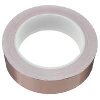 Wholesale NEW Single Face adhesive Electric Conduction Copper Foil Tape EMI Shielding Guitar Slug And Snail Barrier mmx20m