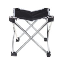 Wholesale Outdoor Aluminum Portable Foldable Folding Fishing Chair Tool Square Camping Stool Lightweight Size S Sliver