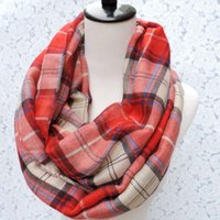 Wholesale 2015 New Fashion Geometric Check Infinity Scarf Snood Plaid Scarves For Women Ladies