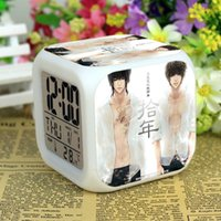 Wholesale Factory Tomb notes naive alarm Zhang Qi Ling Wu evil little brother decades custom LED alarm clock colorful cartoon gift Hot
