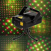 Wholesale 2014 Holiday Sale Mini Laser Stage Lighting mW Mini Green Red Laser DJ Party Stage Light Black Blue Disco Dance Floor Light DHL