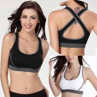 Wholesale Women Jogging Sports Blockout Bra Vest Gym Wear Fitness Crop Top Yoga Exercise Tank Tops SV003465