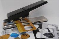 Wholesale Black Metal Professional Guitar Plectrum Punch Picks Stick Maker Master Picker Card Cutter DIY Tools up to mm