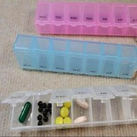 Cheap 3 Colors 7 Day Weekly Pill Medicine Box Holder Storage Organizer Container Case#LY061