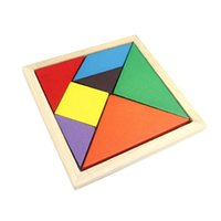 anagram puzzles - Support wholesales WJ58 Wooden jigsaw puzzle Colorful Tangram Intelligent Anagram Game IQ Magic Square