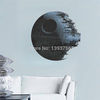 Wholesale DEATH STAR ARTWORK Star Wars Wall Decal Removable d WALL STICKER Home Decor Art Clone
