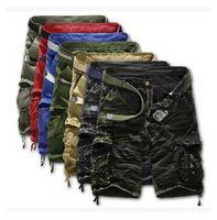 Nouvelles 2015 camouflage occasionnels lâches shorts cargo hommes marque hommes de grande taille multi-poches des pantalons militaires courtes salopettes 8 couleurs