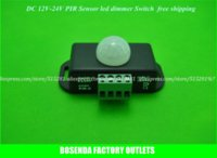 Wholesale DC12 v Auto lighting Switch Wall Infrared PIR Motion Sensor Switch Detectors Switch led light lamp controller Free Ship