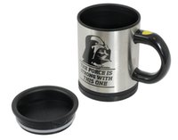 Stainless Steel automatic tray - Star Wars Darth Vader Automatic Mixing coffee Tea cup stainless steel coffee Cup Drinking Cup Coffee mug