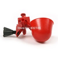 animal tracking equipment - 2 Farm Animals Duck Chicken Drinker Water Nipple Drinkers Plastic Cup Ball Poultry Pets Water Equipment order lt no track