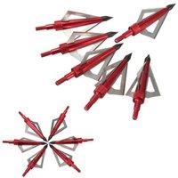 Wholesale hunting broadhead arrow tips cut steel aluminum archery arrowhead grain fit compound bow or crossbow