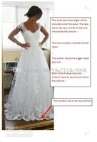 antique ball gowns - real picture dress spoon antique lace applique sexy crystal cheap wedding dress