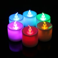 Wholesale 2015 New Arrival Color Changing Flash Candle Light Flicker Flameless LED Tealight Tea Candles Good Quality