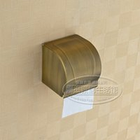 Wholesale Full of high end European antique copper paper towel holder toilet paper holder toilet paper roll carton box sealed waterproof bathroom acce