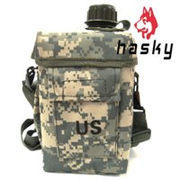 Wholesale Hasky Outdoor Travel Essential New Camouflage Bottles L Camping Sport Kettle with Keep Warm Fluff Bag Freepost XQQ SH