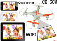 CX-30W toy rc aircraft - CX W drones RC Helicopter model aircraft D real time image transmission tumbling handset FPV aerial Helicopter Toys