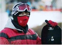 Wholesale Sport Half Face Mask Winter Warm Outdoor Ski Mask Ride Bike Cap CS Mask Neoprene Bicycle Cycling Motorcycle Snowboard Neck Veil