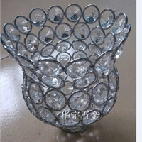 Wholesale Wall lamp pendant light crystal lampshade DIY accessories chandelier Lamp shade for home decorating lamp shades