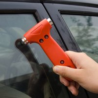 Wholesale Mini Car Safety Hammer Life Saving Escape Emergency Hammer Seat Belt Cutter Window Glass Breaker Car Rescue Tool