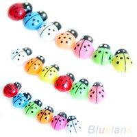 Wholesale 100Pcs Colorful Mini D Wall Stickers Home Decor Kid Toys DIY Ladybird Ladybug SJ1