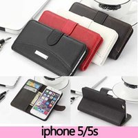 crazy horse leather - Wallet Case For iPhone s leather Flip brand Hybrid Litchi Leather Crazy Horse mobile phone bag
