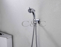 Wholesale Wall Mounted Chrome Multifunctional Portable Shattaf Bidet Gun With Brass Holder and Stainless Steel Hose A801H