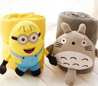 Wholesale minion towel blanket cartoon baby minion cm cute Despicable Me Minion plush coral fleece blanket cat minion blanket D1577