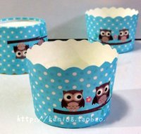 assorted wrapping paper - 100X Blue Owl Cartoon Cupcake Paper Baking Cups Cupcake Liners Bulk Wrappers Wrapping Paper Assorted