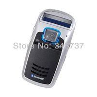 Wholesale Bluetooth Car Kit A6 Hot Solar Hands Free Kit Bluetooth Car Kit Hands free Calls FM MP3 Player Solar Powered