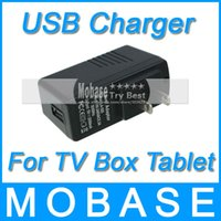 Wholesale US Plug Universal USB Charger AC Power Adapter for Tablet PC Cellphone TV Box Stick Dongle V A