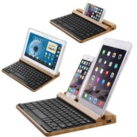 bamboo case for ipad - New Arrive Really Bamboo Mini Wireless Bluetooth Keyboard Case Cover for Apple IOS iPad Mini Samsung Galaxy Tab Pad