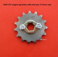axle lock - 420 T mm Axle engine front sprocket with lock pin and screws kit good quality price kit