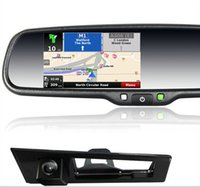 toyota car gps navigation - gps navigation rearview mirror with touch screen monitor bluetooth handsfree car kit for toyota hiace new model