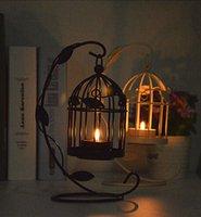 all'ingrosso candles-I titolari di Natale stile marocchino Bird Cage Decoration Candela per feste di matrimonio Caftani Foglia Candela favori per Natale regali di compleanno