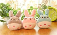 Wholesale 20PCS Kawaii NEW Colors TOTORO DOLL Plush Stuffed TOY Key Chain Phone Strap Pendant Charm DOLL TOY Bouquet TOY DOLL