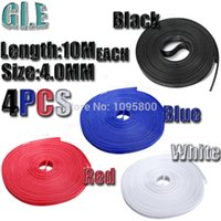 Wholesale free freight4mm M inch PET Braided Expandable Auto Wire Cable Gland Sleeve Sleeving High Density Sheathing Colors Black Blue Red White